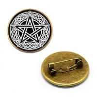 ZNA028 Значок Пентаграмма, d.27мм, цвет бронз.