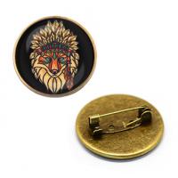 ZNA108 Значок Тотем Лиса, d.27мм, цвет бронз.