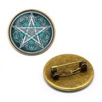 ZNA112 Значок Пентаграмма, d.27мм, цвет бронз.