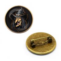 ZNA126 Значок Ведьма, d.27мм, цвет бронз.